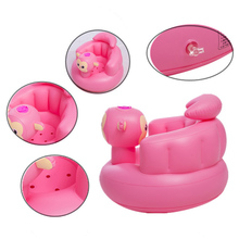 Kids Baby Inflatable Chair Sofa Bath Seat Dining Pushchair PVC Infant Portable Play Game Mat Stool TK-ing