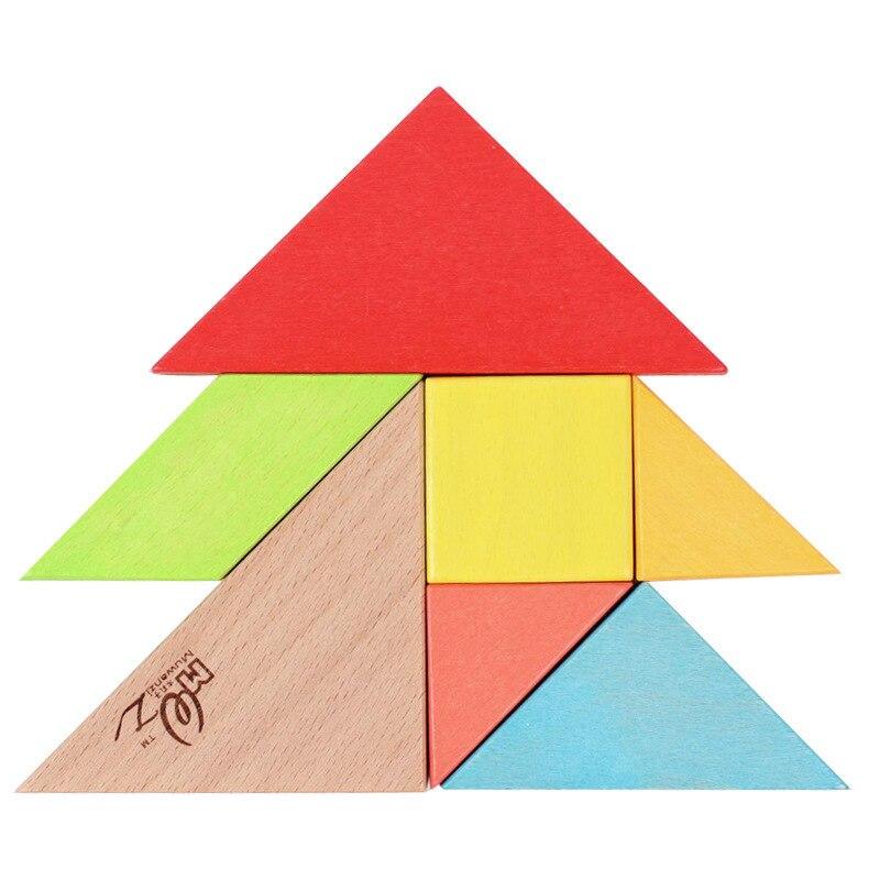 Монтессори бук головоломки распознавания форме собраны деревянные головоломки дети игрушки интеллектуальной головоломки
