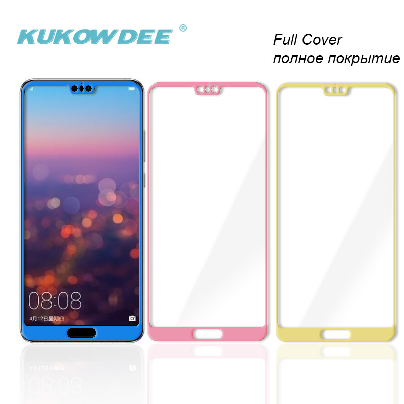 3D Full Cover Screen Protector For Huawei P20 Lite NOVA 3e Protective Tempered Glass Sheet Film Blue Pink Gold P20lite Pro