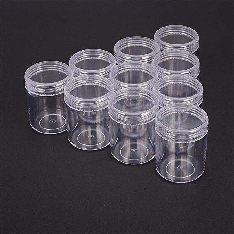 Прозрачные пластиковые бусины для упаковки ювелирных изделий, 10 шт., ящик для хранения бусин для ногтей, чехол 39x50mm|plastic bead containers|bead containerscontainer for jewelry | АлиЭкспресс
