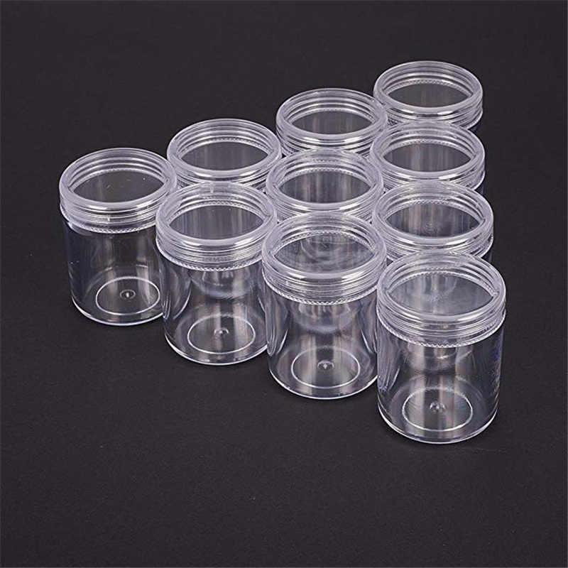 10 قطعة حاويات خرز من البلاستيك الشفاف للمجوهرات التعبئة والتغليف مسمار الخرز صندوق تخزين العدة حبة الأحجار الكريمة 39x50mm