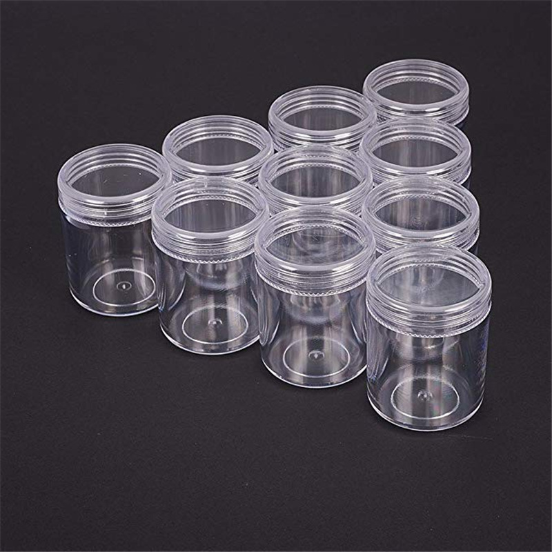 10pcs Clear Plastic Bead Containers For Jewelry Packaging Nail Beads Tool Storage Box Bead Gems Case 39x50mm