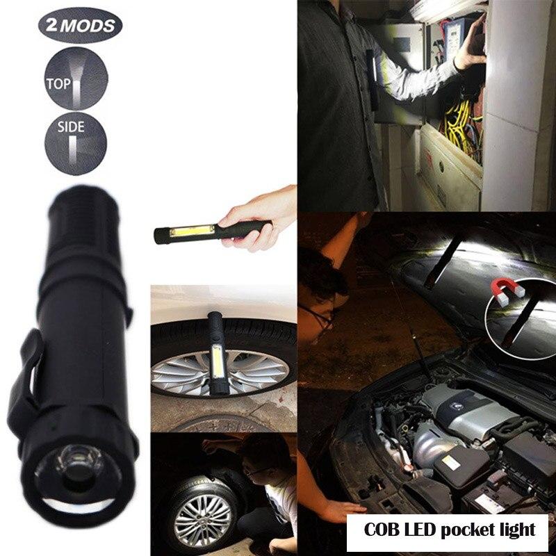 E Set CREE XM-L T6 8000LM LED Flashlight COB Multifunction Tactical Torch Light Handheld flashlights for DIY Working NO Battery