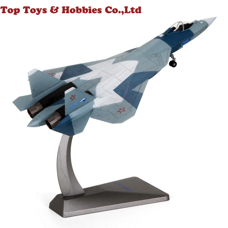 2kg Russian heavy fighter Su57 static military ornaments aircraft model Toy Su-57 Air Force Model Collection image
