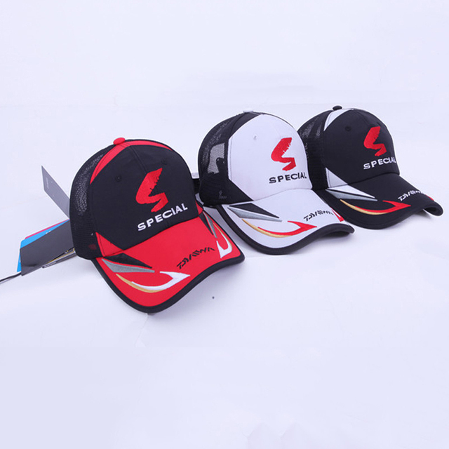 06f48fe4e04dd Daiwa Sunshade Fishing Cap Men s Adjustable Waterprrof Baseball Mesh Cap  Summer Windproof Hiking Fishing Hat Outdoor