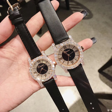 Luxury Blingbling Crystals Women Jewelry Watches Vintage Rom