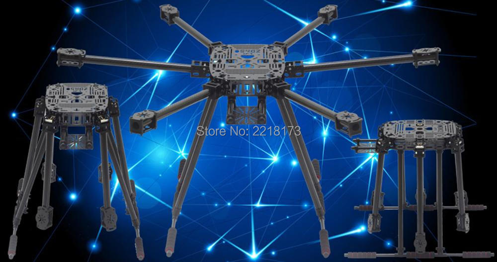 ZD850 ZD 850 Full Carbon Fiber Hexa-Rotor Frame Foldable Arm Hexacopter Frame Kit with Unflodable Landing Gear for FPV RC zd850 full carbon fiber frame kit with unflodable landing gear foldable arm 6 axle hub set for diy fpv aircraft hexacopter