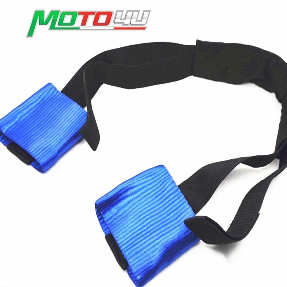 Motorbike Motorcycle Front Wheel Handlebar Transport Bar Tie Down Strap
