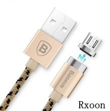 Micro usb cable for Samsung s3 s4 s5 s6 Charging cable for xiaomi huawei mei zu charger cable 1m Baseus Magnetic fast charging