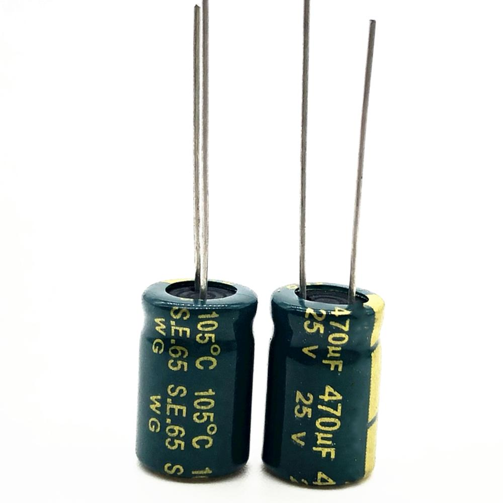 25V 470UF 8*12  High Frequency Low Impedance Aluminum Electrolytic Capacitor 470uf 25v