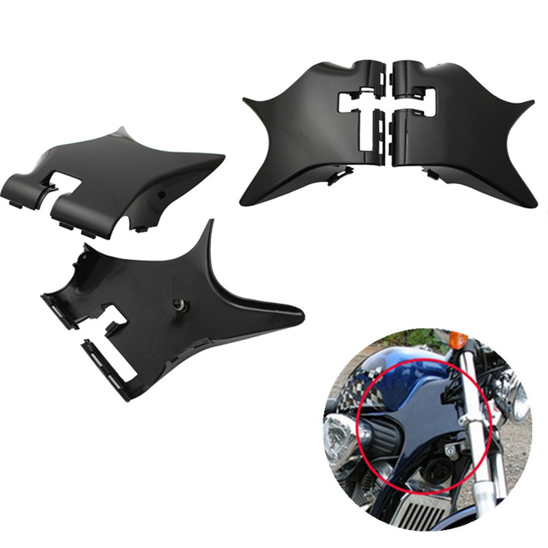 Scooter Motorcycle Frame Neck Cover Cowl Black For Honda Shadow VT600 VLX 600 STEED400 Motobike ABS Plastic Moto Accessories for 88 98 honda shadow vt600 vlx 600 steed 400 motorcycle abs plastic frame neck cover cowl wire covers side frame guard black