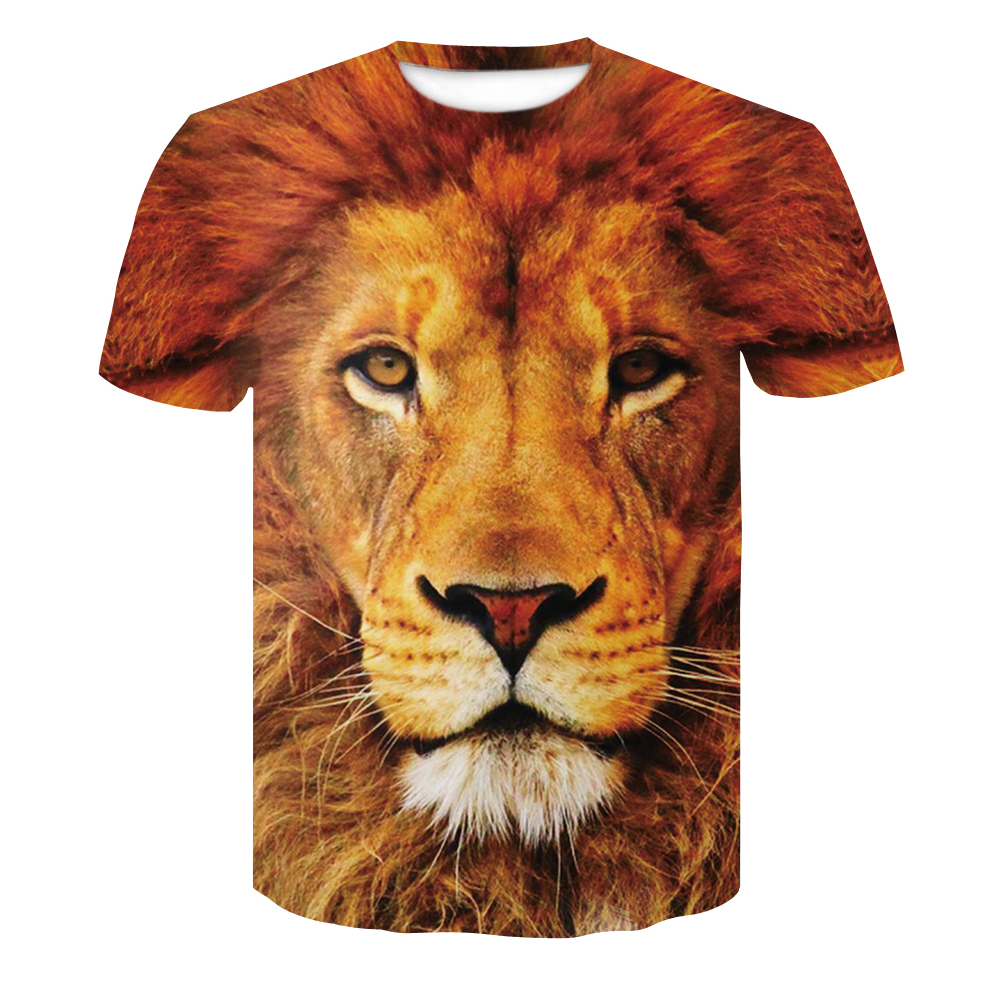 Lion T Shirt Men Animal <font><b>Tshirt</b></font> <font><b>Sex</b></font> <font><b>Funny</b></font> T Shirts Slim 3d Print T-shirt Hip Hop Tee Cool Mens Clothing 2018 New Summer Top image