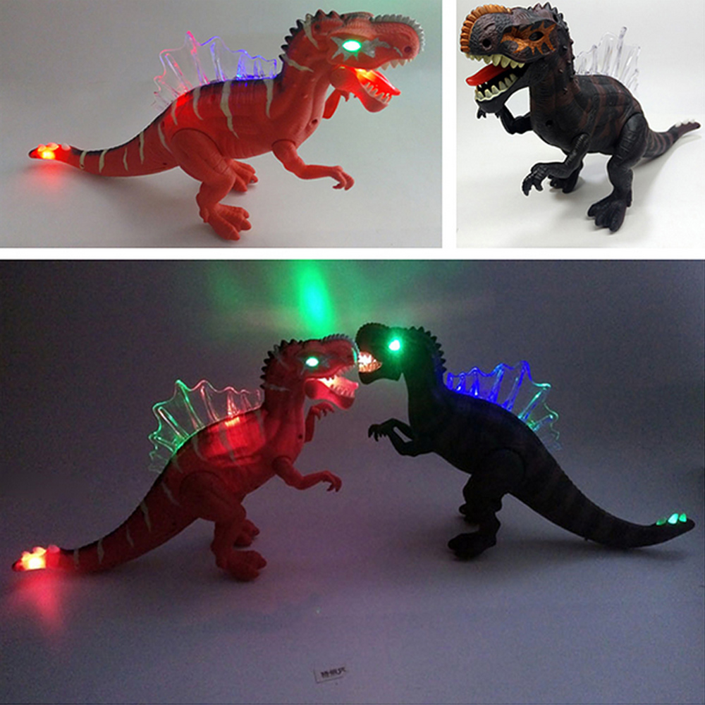 2018 New 17'' Kids Favourite Gift World Sounding Flashing Plastic Electronic Dinosaur Toy Kids Toys