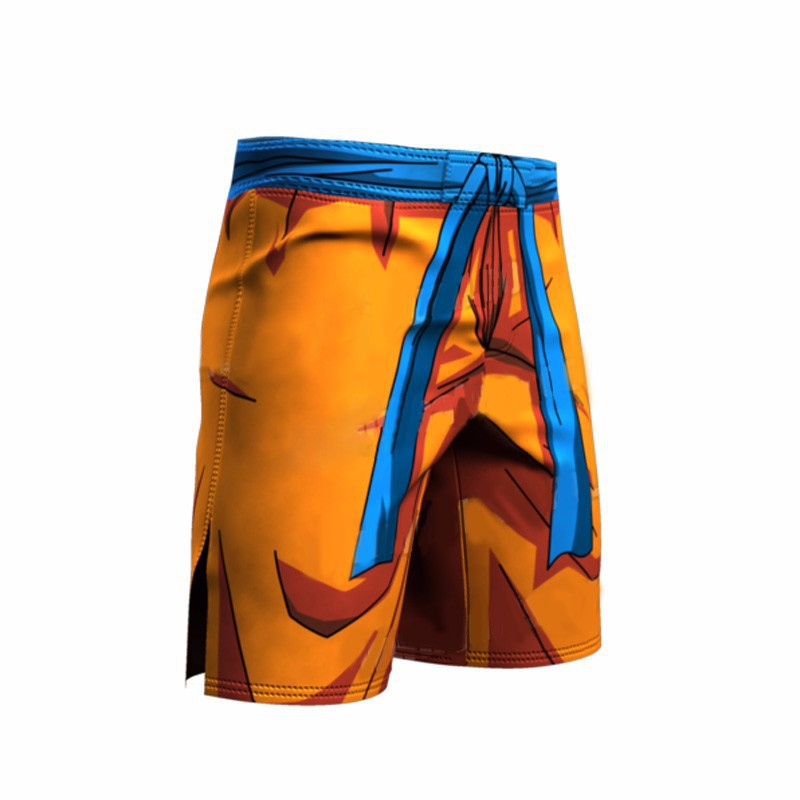 Summer men's/women's 3D beach   shorts   cartoon dragon ball funny printed   shorts  .Orange men's   short   trousers