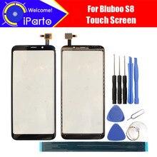 5.7 بوصة Bluboo S8 محول الأرقام شاشة تعمل باللمس 100% ضمان الزجاج الأصلي شاشة باللمس على حامل الزجاج ل S8 + أدوات لاصق