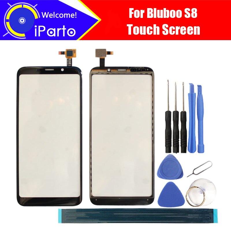 5,7 zoll Bluboo S8 Digitizer Touchscreen 100% Garantieren Original Glas Panel Touch Screen Glas Für S8 + werkzeuge + klebstoff