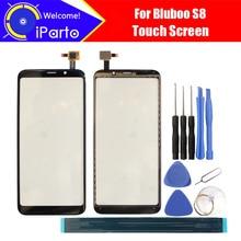 Дигитайзер Bluboo S8 с сенсорным экраном 5,7 дюйма, 100% гарантия, оригинальная стеклянная панель, стекло сенсорного экрана для S8 + Инструменты + клей