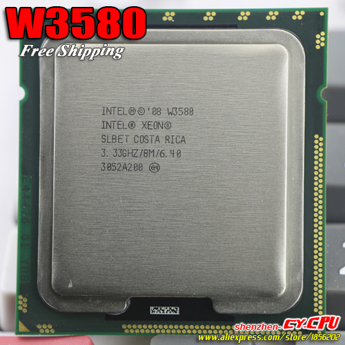 US $88 0 |Intel Xeon W3580 CPU processor /3 33GHz /LGA1366/8MB L3  Cache/Quad Core/ server CPU Free Shipping,there are, sell X 5570 CPU-in  CPUs from
