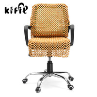 KIFIT Practical 1pcs Universal Wood Wooden Beaded Car Home Chair Seat Cover Massage Cool Cushion Health