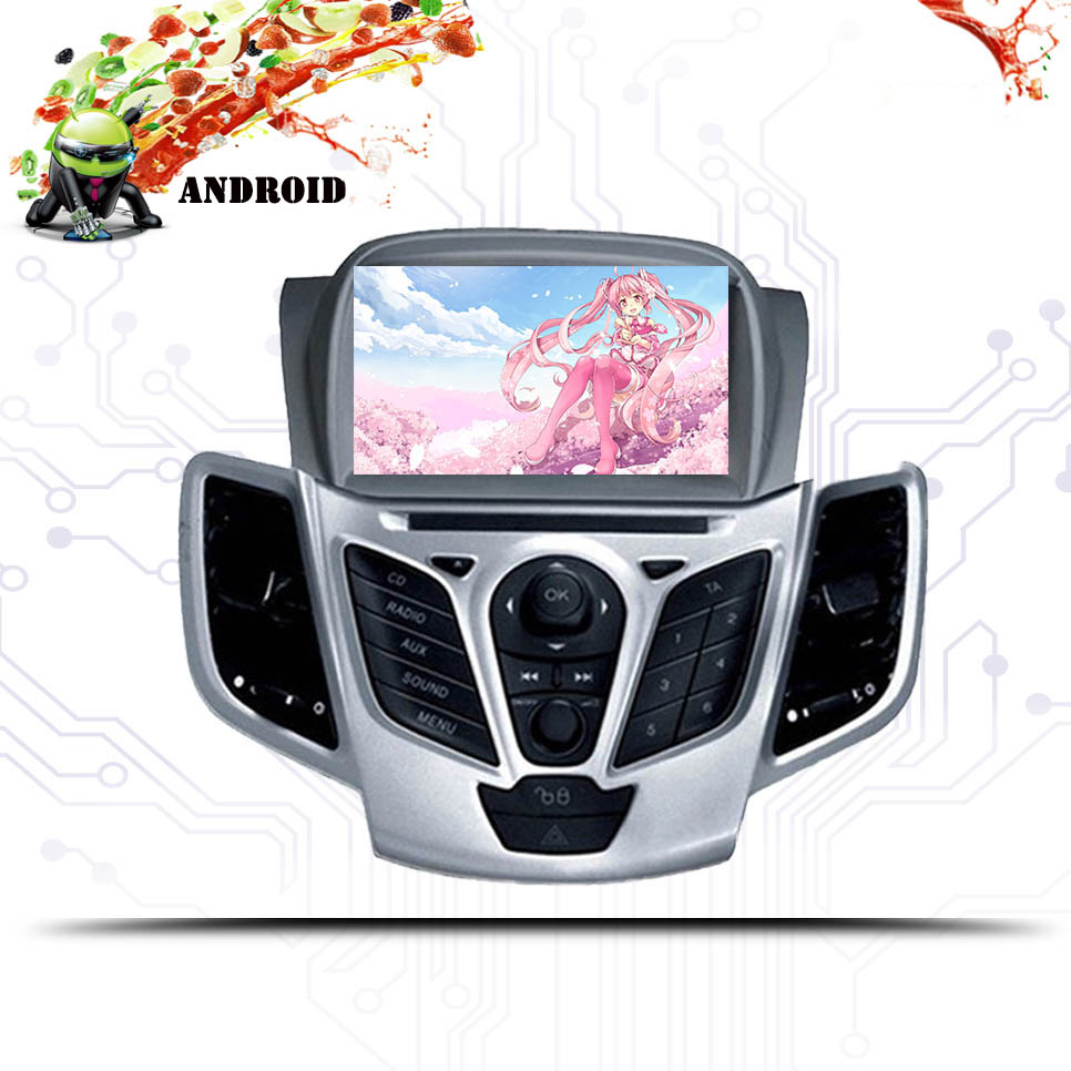 Android 9.0 Car DVD Player For Ford Fiesta 2008 2009 2010 2011-2014 2015-2018 Radio Audio BT Tape Recorder GPS Navigation 8 Core image