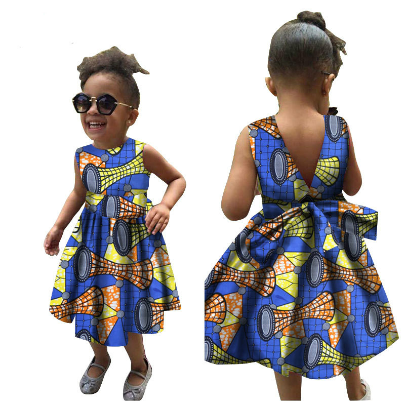 US $26.86 6% OFF|2019 new summer fashion style african children bazin riche  cotton plus size dress XS 3XL-in Africa Clothing from Novelty & Special ...