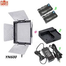 Yongnuo yn600 yongnuo yn-600 3200-5500 karat led-videoleuchte + ac adapter + 2 * np-f550 + ladegerät