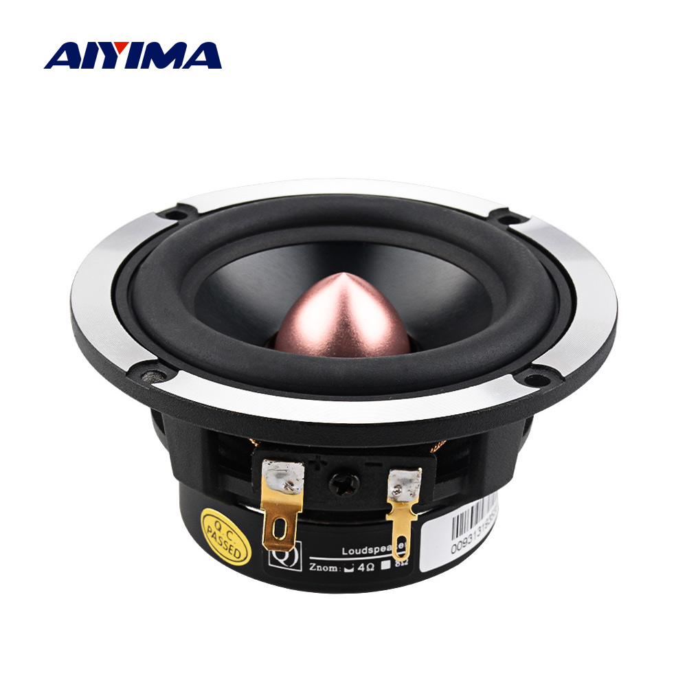 AIYIMA 3 Inch Hifi Midrange Sound Speaker Car DSP Audio DIY Speakers 4 8 Ohm <font><b>30</b></font> W <font><b>25</b></font> Core Music Loudspeaker For Sound System image