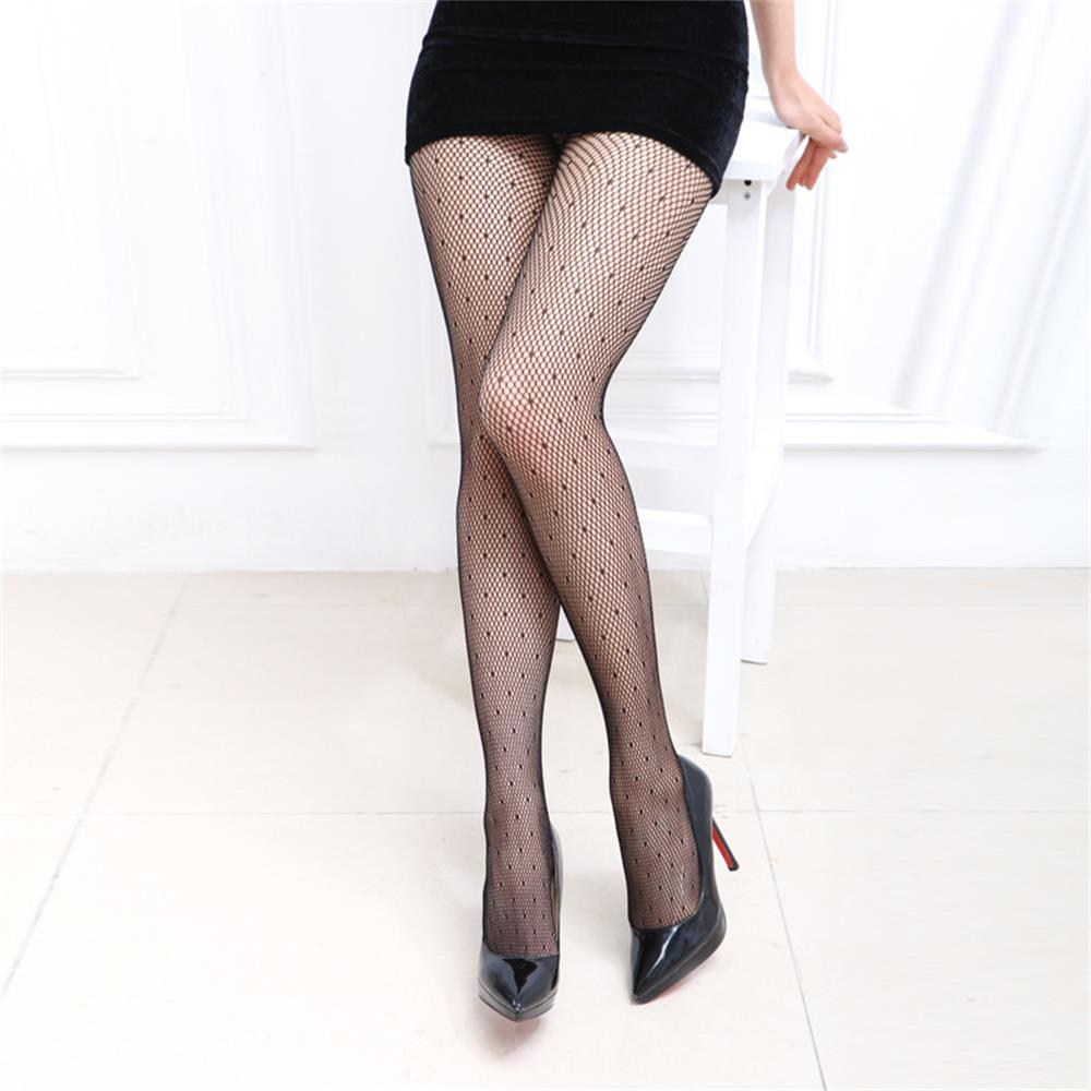 9c61fd92e5a Women Fashion Small Mesh Pantyhose Lady Sexy Mesh Fishnet Stockings  Jacquard High Tights-in Tights from Underwear   Sleepwears on  Aliexpress.com