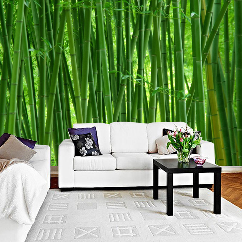 Green Bamboo Forest Nature Photo Wallpaper Mural Home Decor Wall Paper 3D  Living Room Bedroom Self Adhesive Vinyl/Silk Wallpaper-in Wallpapers from
