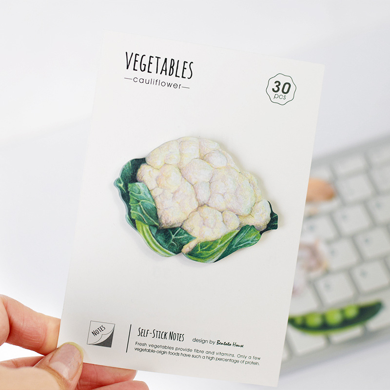 4 pcs/Lot Vegetable adhesive memo notes 30 sheets sticky post Stationery Novely Office accessories School supplies F423