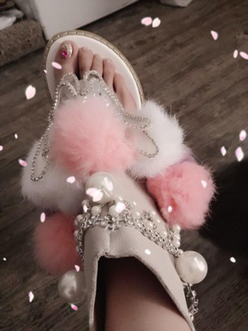 Femenino Luz Rhinestone no With Estilo Sandalias Colores Light Flip Mezclados Light Mujer Zapatos Dulce Tanga Pom Led Flops qRUOxgFg