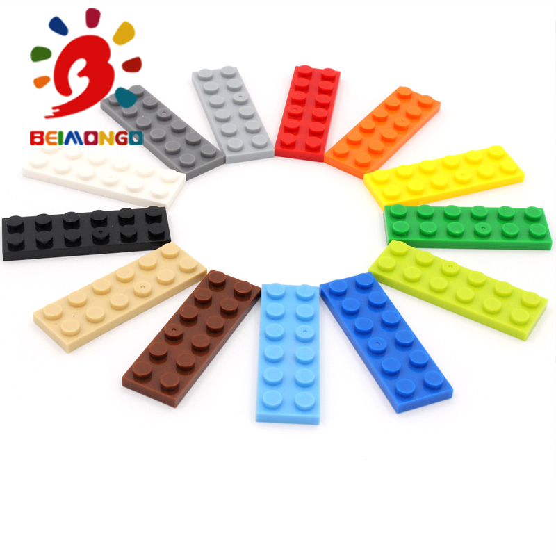 Stacking Blocks Toys & Hobbies Hospitable Free Shipping!beimongo Blocks Plate 2x6 Building Blocks 80pcs Educational & Intelligent Diy Kids Toys Can Be Compitabled