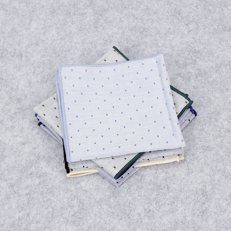 Luxury Men/'s Handkerchief Pocket Square Polka Dot Cotton Suit Hankies Wedding