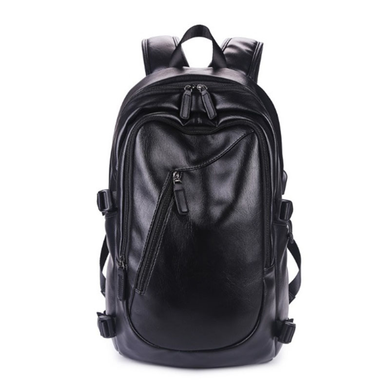 OZUKO 2017 Men Backpack Leisure Time Fashion Travel PU Leather Backpack Waterproof High Quality Men School Student Bags