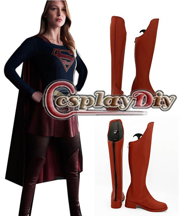 The Flash Supergirl Boots Shoes Adult Women Girls Cosplay Boots Custom Made