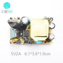 2000MA AC-DC 5 V 2A Comutação da fonte de Alimentação Placa Nua DC Interruptor do Regulador De Tensão Módulo De Potência Com Proteção IC 100-240 V SMPS