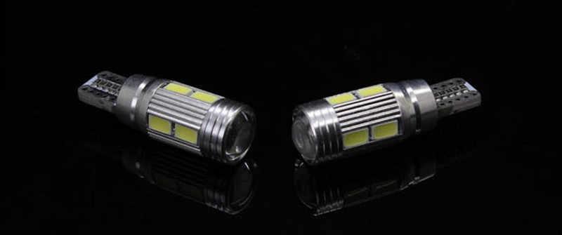 2X T10 W5W Fehler Kostenlose LED Auto Side Parkplatz glühbirnen Mit projektor Objektiv Für BMW E36 E38 E39 E46 E53 E60 E63 E65 E66