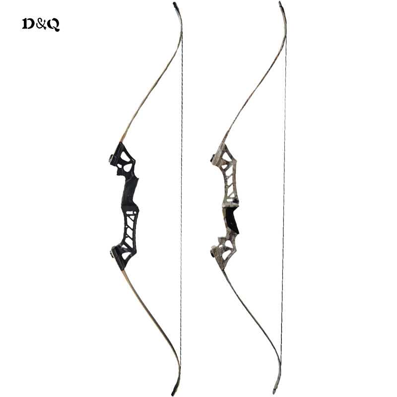 30-60 lbs Archery Recurve Take Down Bow 57inch for Outdoor Hunting Shooting Target Practice Sport Games Black Camo Color Longbow