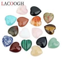 Hurtownie nowa moda 5 sztuk płaskie miłość serce kamień naturalny Cabochons koraliki 10mm 25mm dla DIY bransoletki komponenty do wyrobu biżuterii