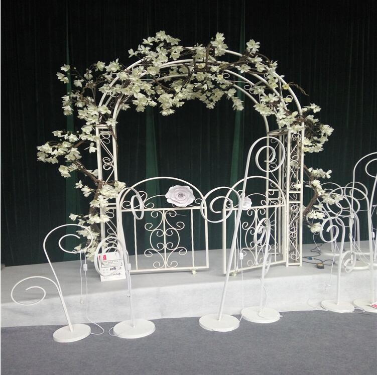 Wedding Iron Art Arch European Flower props Cane Frame