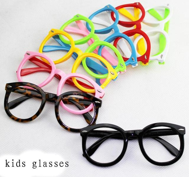 a9b4f10e3e top fashion 2015 Children big Round frame eyeglasses boys girls kid cute  decorative colored glasses frames without lenses