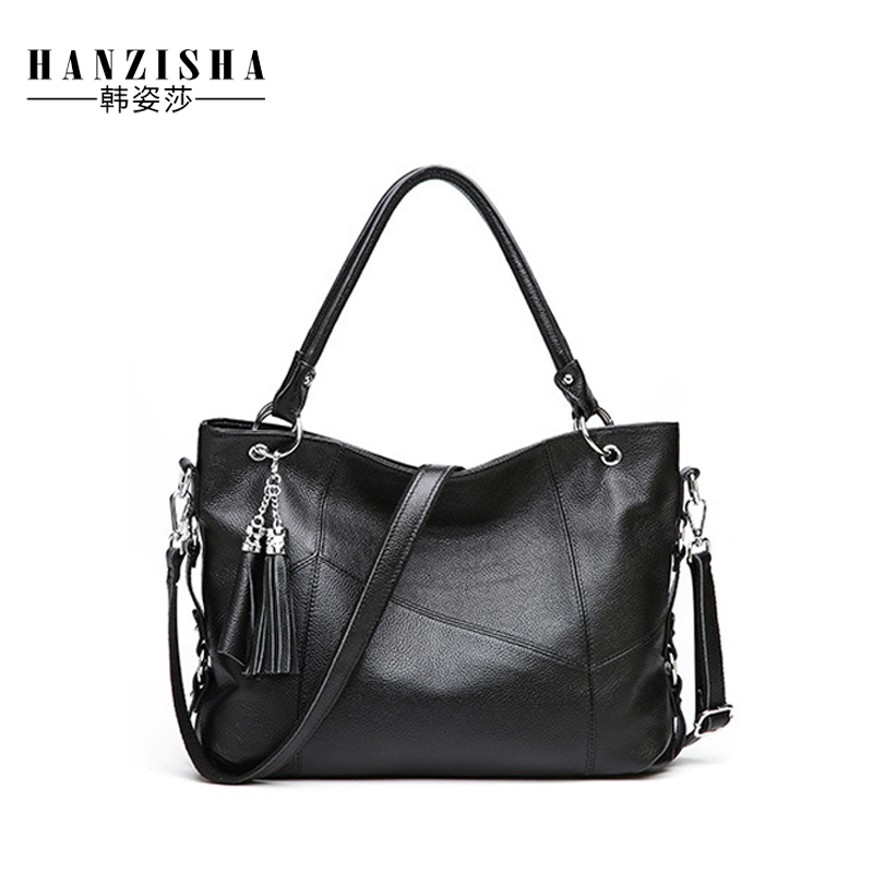 Genuine Leather Women Bag New Arrive Fashion Tassel Design Large Capacity Women Tote Famous Brand Bag Lady Messenger Casual Bag meiyashidun new tassel women bag luxury handbags women genuine leather messenger bags famous brand design tote bucket bag bolsos