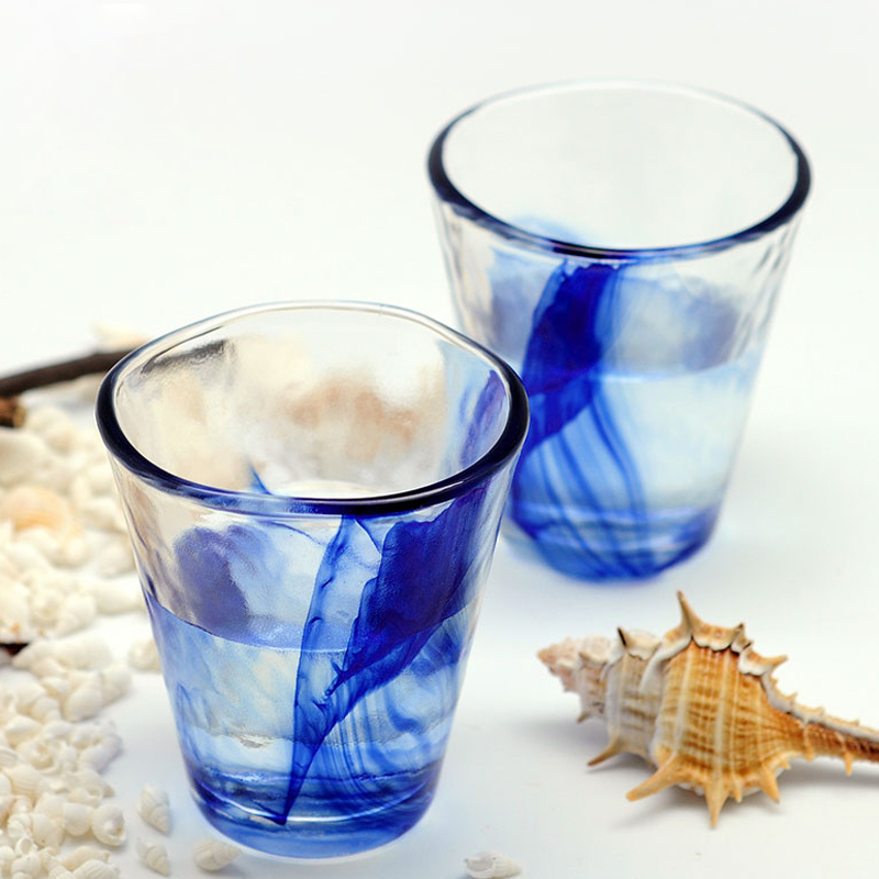 Multipurpose Lead free Crystal Cups Colorful glass Tea cups Glass Beer Glass Wine Cup Bar Hotel Party Drinking ware in Beer Steins from Home Garden