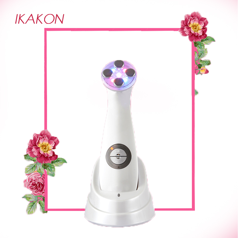 цена на Portable Ultrasonic 6 Mode Photon Lights Skin Instrument For Facial Lift Care Face Skin Cleaner Wrinkle Remover Beauty Massage