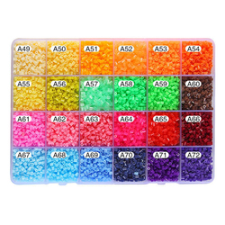 1000pcs/set 2.6mm DIY Hama Beads Toy Eva Perler Beads Creative Jigsaw Puzzle Toy Educational 3D Puzzle Beads Kids Toys Wholesale