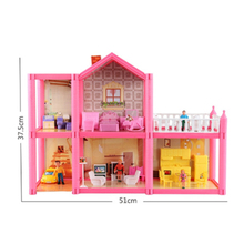 House Doll Miniature Dollhouse Toy Kids Bathroom Sofa Diy Bedroom Sets Chairs Items China Car Bedside Dolls Shop Pink