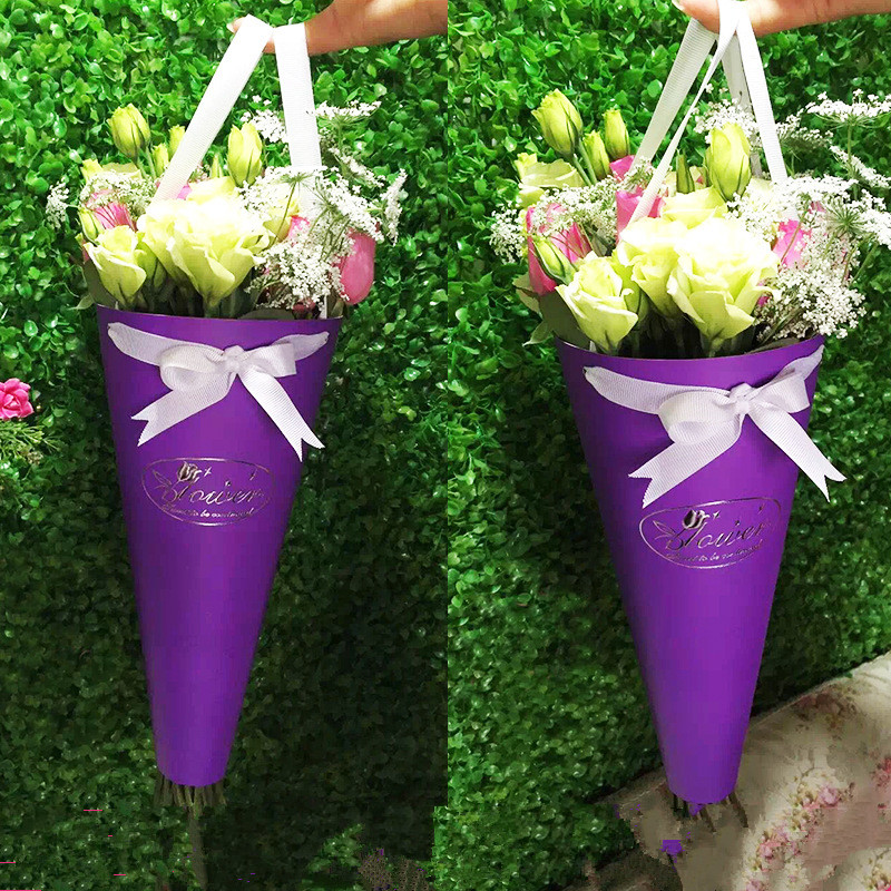5pcs Paper Bag For Flowers Packaging Flower Bouquet Gift