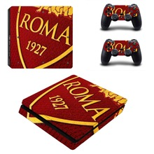 AS ROMA Football Team PS4 Slim Skin Sticker For Sony PlayStation 4 Console and Controllers Decal PS4 Slim Sticker Vinyl