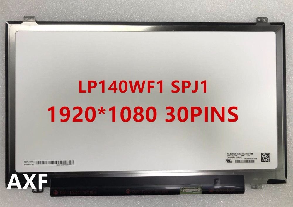 14.0LED LCD Screen LP140WF1-SPJ1 LP140WF1(SP)(J1) FHD 1920X1080 IPS eDP 30pin b101xt01 1 m101nwn8 lcd displays