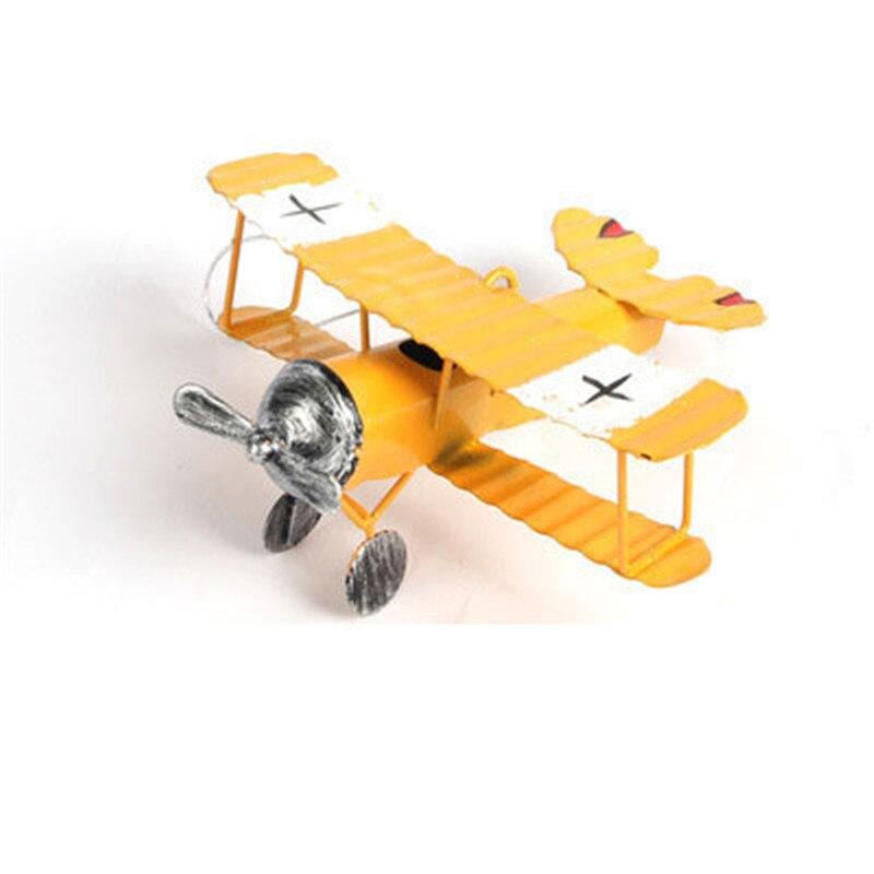 Zakka American Iron Craft Vintage Old Aircraft Model Home Decor Figurine Creative Office Bar Desktop ornament Fashion Child Gift
